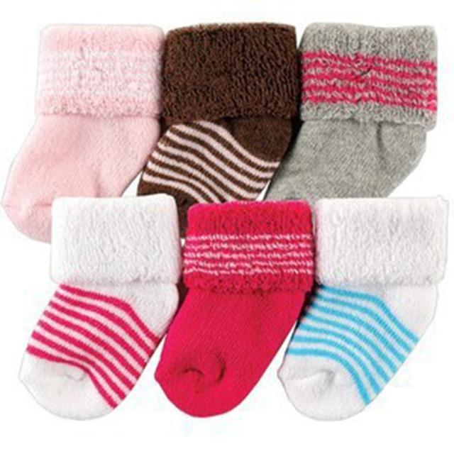 2017 New Style 6 Pcs Lot Baby Socks Girl Newborn 0 3 M Warm Winter