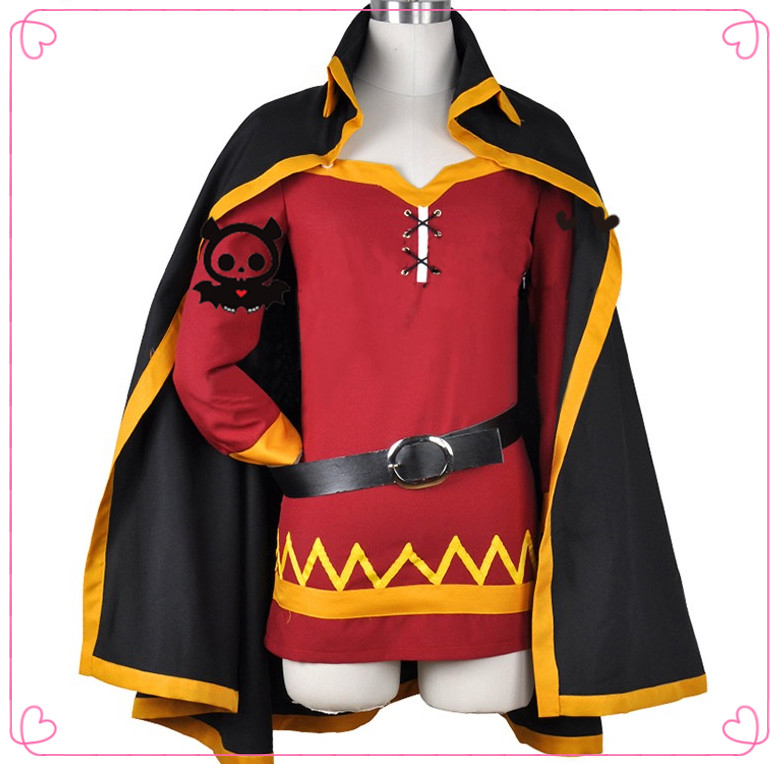 KonoSuba God s Blessing on this Wonderful World Cosplay Megumin Cloak Dress Uniform Outfit Anime Cosplay