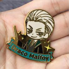 Nice Golden HP Harri Potter Draco Malfoy Metal Pin Badge Brooch Breastpin  Costume Accessory Pendants Ornament(