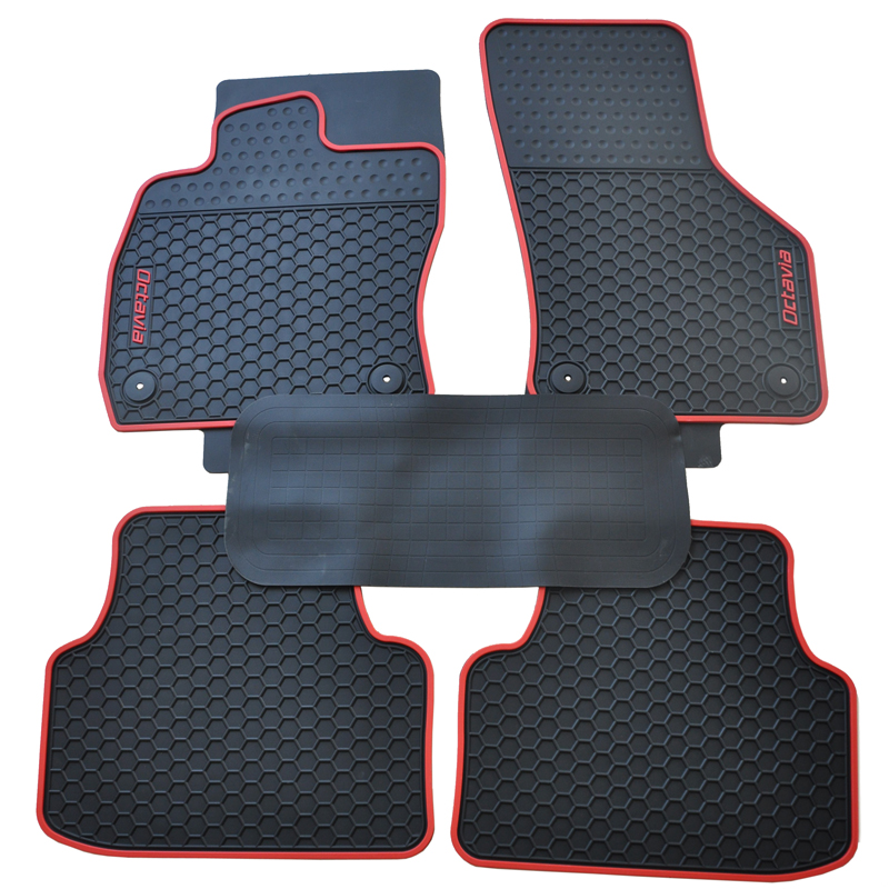 special waterproof no odor senior latex carpets rubber rugs car floor mats with original buckle for 2015-2018year Skoda Octavia uk hong kong macao right steering wheel drive version car rugs mat for volkswagentouareg special latex rubber floor carpet