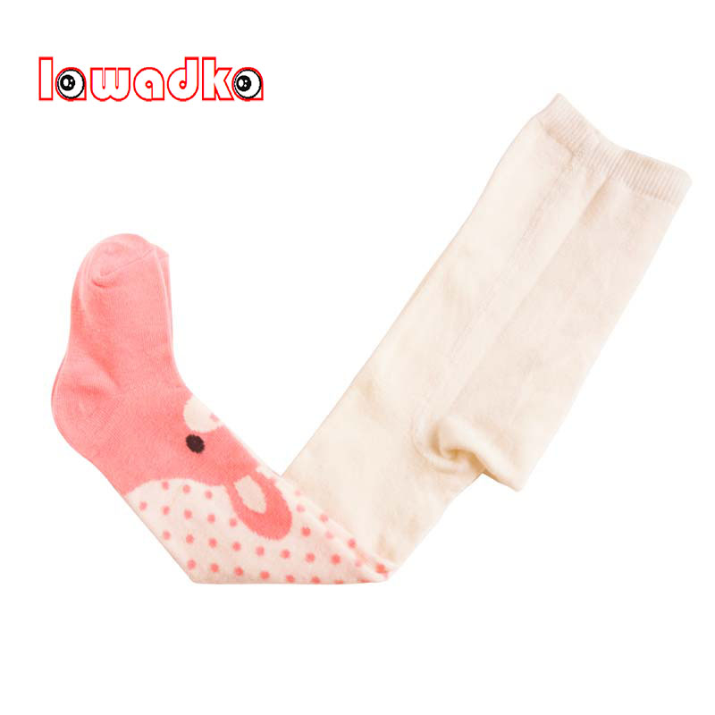 Cotton Knitting Baby Girls Tights Cartoon Spring Style Soft Children Gifts Magic