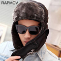 2016 New Men Women Winter Warm Hats Russian Trapper Aviator Trooper Earflap Outdoor Sport Snow Ski Hat Cap winter dad hat