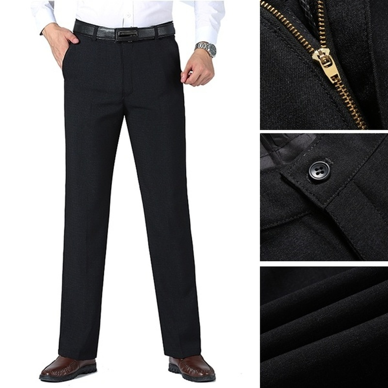 ZOGAA Autumn and winter Men Comfortable Suit pants business casual straight loose autumn thick
