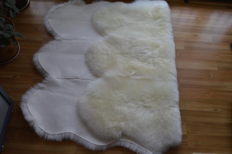 ковер из натуральной овчины, белый