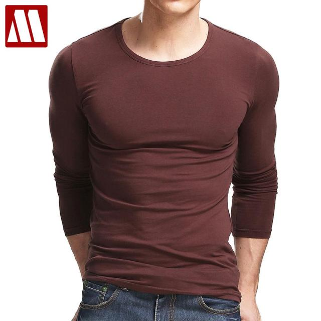Aliexpress.com : Buy 2017 Long Sleeve t shirt Men Round Neck Top ...
