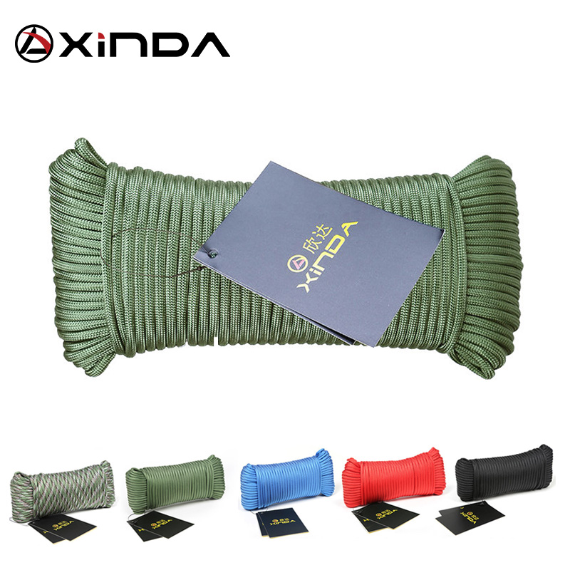 Xinda Catch Rope Rope Mountaineering Outdoor Auxiliary Line 9 Core Life-saving Rope Equipment Safety Rope 31 Meters