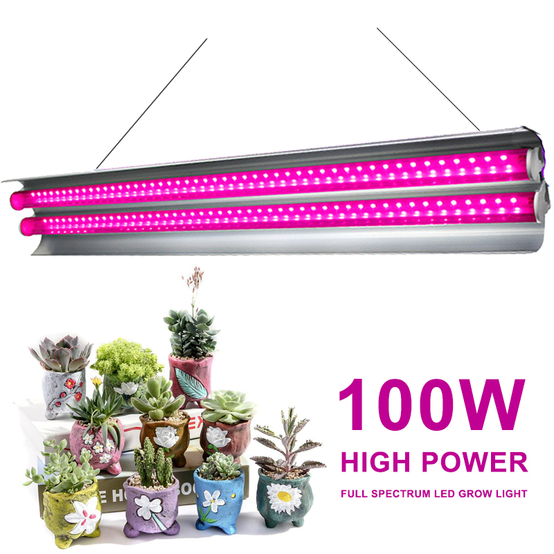 Full Spectrum 100W LED Grow Light Indoor Strip Growth Lamp For Plants Growing Tent Fitolampy Phyto Seed Flower Growth Light Bulb
