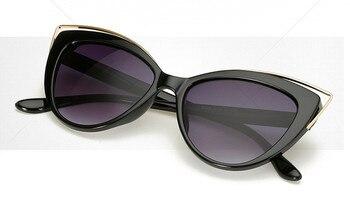 VWKTUUN Wunglasses Women 2020 Vintage Cat Eye Shades Hollow Out Frame Women's Glasses Oversized Sunglasses Woman Brand Designer 4