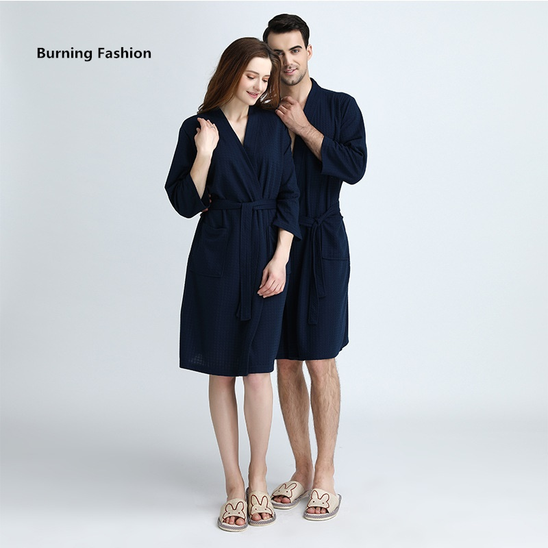 14db09ecad Detail Feedback Questions about Burning Fashion Couple summer breathable bathrobe  adult male and female absorbent on Aliexpress.com