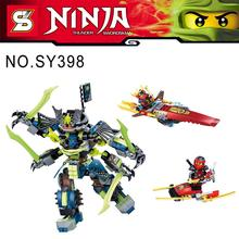 2015 New Arrival SY398 515Pcs Marvel Phantom Ninja Kai Nya Minifigures Building Blocks Set Model Kits Bricks Education Toy Gift