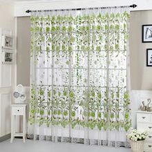 1Piece Translucidus Window Curtain Tulle Sheer Door Curtain Voile Valance Drapes Panel Valance Curtain for Living Room Bedroom window door curtain valance drape panel sheer tulle window screening tulle curtain for living room valance tulle sheer curtain