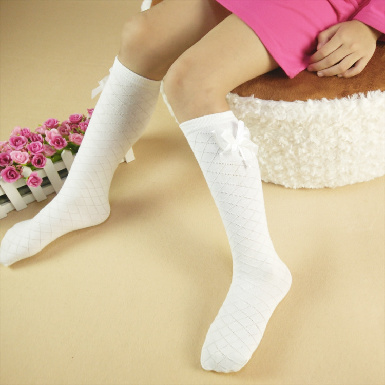 ee6ca1343 Children s girl over the knee high cotton socks bow socks breathe freely  socks Good Quality Hot sales free shipping-in Tights   Stockings from  Mother   Kids ...