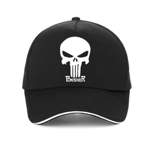 Hero USA Punisher SKULL Logo Baseball Cap Sports Snapback Hats  adjustable Structured Dad Hat Casual Men Caps casquette bone