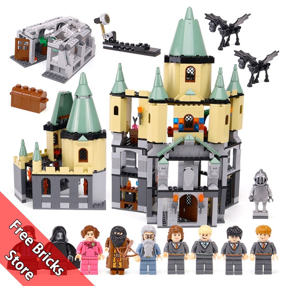 1033 Pcs 16029 Compatible Legoe 5378 Harry Potter Hogwarts Castle 3D Mini Figures Model Building Blocks Kits Toys For Children china brand 16029 educational bricks toys diy building blocks compatible with lego hogwarts castle 5378