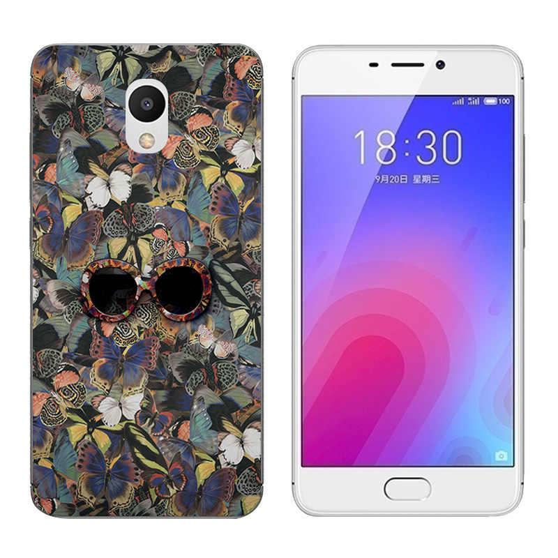 TPU Weichen Fällen Für Meizu M6 5,2 zoll Transparent Smiley Druck Zeichnung Klar Silikon Telefon Fall Abdeckung Für Meizu M6 mini Capa