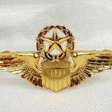 ВВС США Пилоты Металлический Золотой крылья Знак PIN INSIGNIA