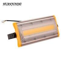 HUAN JUN SHI 2PCS Refletor 220V 50W LED Flood Light Outdoor Lighting 50watt LED Floodlight COB Spotlight Light for Outdoor Wall