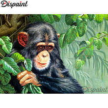 Dispaint Full Square/Round Drill 5D DIY Diamond Painting Animal monkey 3D Embroidery Cross Stitch Home Decor Gift A10085