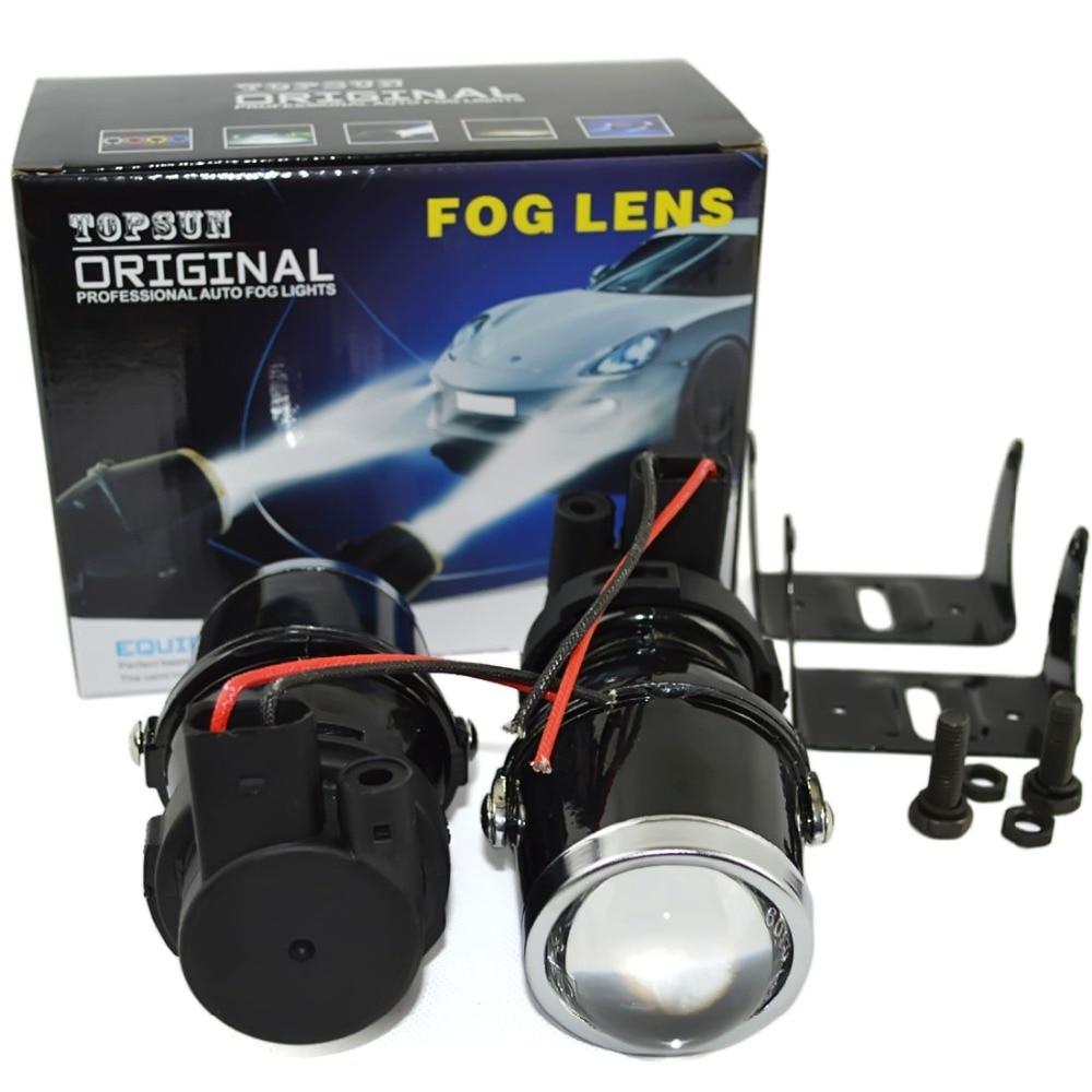 Safego 12V 55W H3 Halogen bulbs metal clear glass fog light Projector Lens H3 Fog Lights warm white car auto fog lamp headlight цены