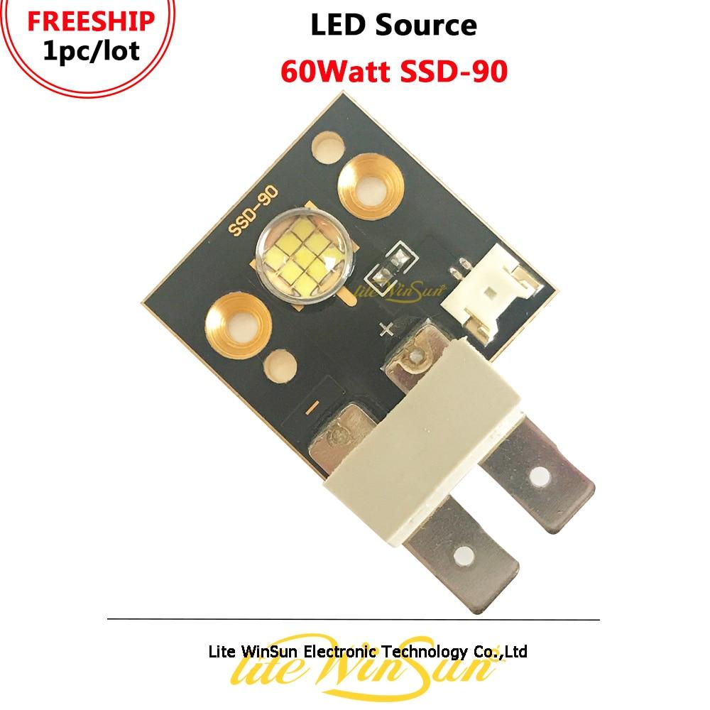 Litewinsune FREESHIP LED 60-watt Source SSD-90 High Power LED Lamp Source For LED Spot Stage Lighting