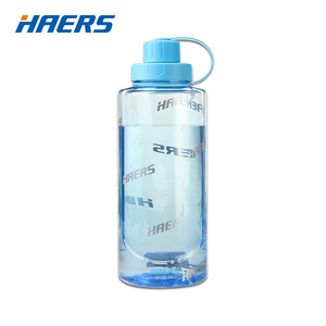 Image 2 - Haers Portable Eco Friendly Plastic Water Bottle Handgrip Sports With Tea Infuser Climbing Hiking Bottle 1000/1500/2000ml