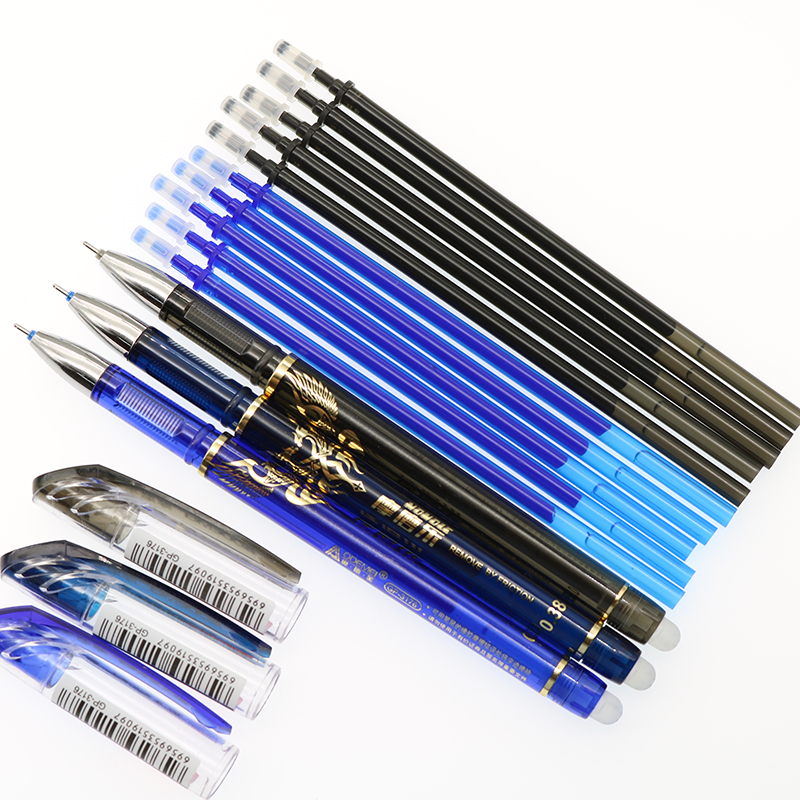 Erasable Blue / Black Ink Neutral Pen Magic Pen 0.38mm Office Equipment Supplies