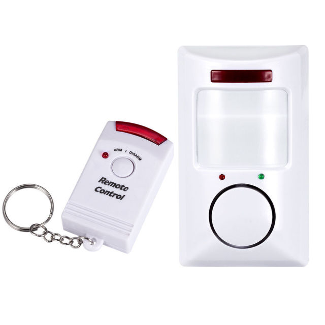Anti-Theft Motion Detector Security Portable 105Db Pir Motion