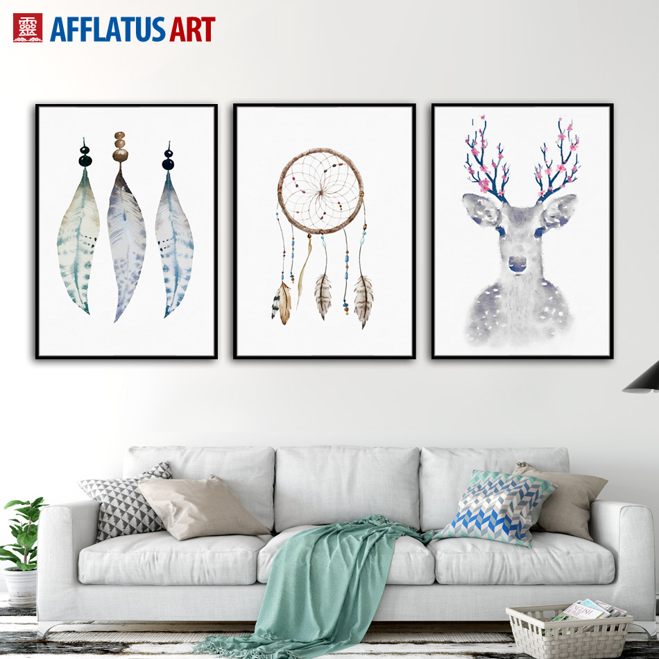 Wall Art Paintings For Living Room Popular Feather Wall Art Buy Cheap Feather Wall Art Lots From