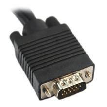 SCLS Black VGA SVGA male S video 3 RCA audio video AV cable converter