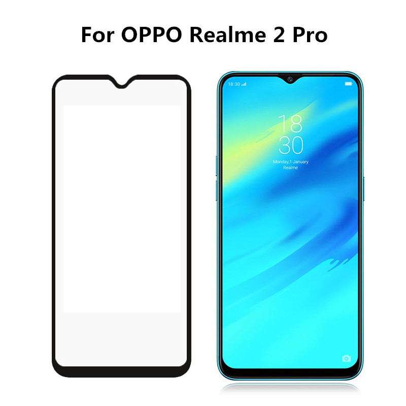 CCDZ 9H Black Full Cover Tempered Glass For OPPO Realme 2 2 Pro Screen Protector Film For OPPO Realme C1 Tempered Glass