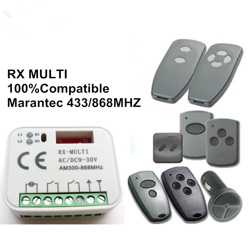 Remote Controls 2pcs Marantec D302,d304 868mhz Replacement Remote Control Receiver