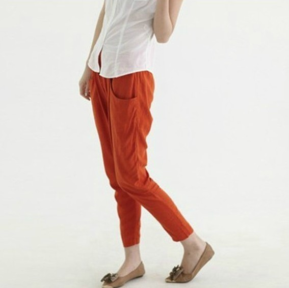 2234aa21850 Women s spring and summer haren pants female linen trousers big yards  cotton pants ladies casual pants vestidos
