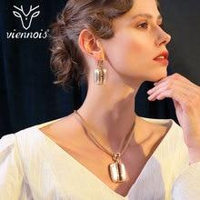 Viennois Gold / Mix Silber Farbe Ohrringe Big Anhänger Schmuck Set für Frauen Schmuck Setzt Neue