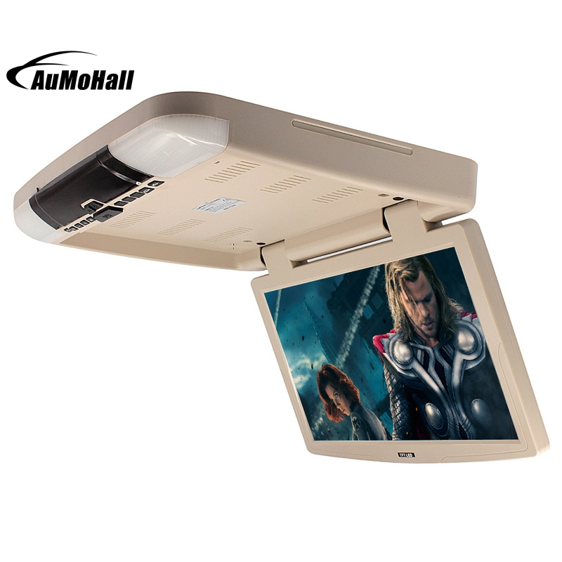 15.6 Inch Vehicles Car Flip Down Monitor TFT LCD Monitor Car Roof Mount Monitors With MP5