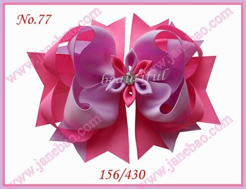 """free shipping 2017 newest  50pcs 6.5"""" Inch Romantic hair bows clip complicated hair bows clip"""