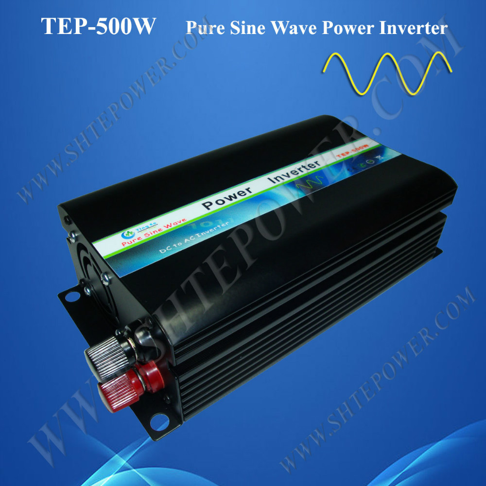 Off Grid DC to AC Power Pure Sine Wave Power Inverter 500W 12V 24V to 220V 110V/120V/230/240V