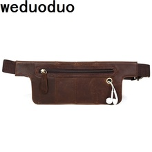 Weduoduo Genuine Leather Men Waist Bag Multifunction Packs For Fanny Pack  Casual Travel Pouch Item Organizers