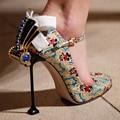 2017 Sapatos Da Marca de Luxo Mulheres Sapatos De Salto Alto Bowtie Bombas Zapatos Mujer Sapatos de Casamento Festa de Strass Fivela de Sapato Feminino Das Mulheres
