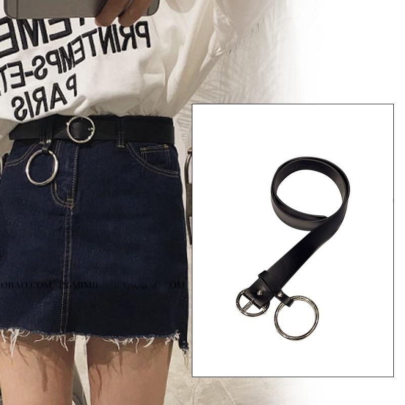 Кожаный ремень повседневные ремни платье ремни для женского платья модные кожаные джинсы кольцо ремень Удобный Круглый Пряжка брюки одежда