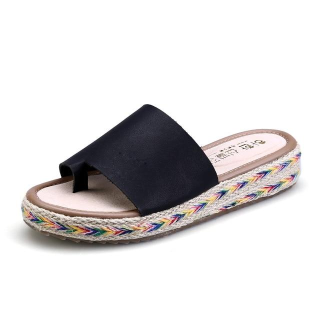 Women Flip Flops Thick Platform Slippers Beach Shoes Slides Sandals Casual Flats Plus Size
