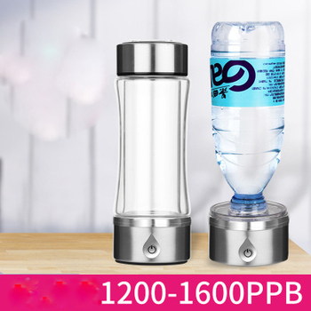 420ml SPE/PEM Rich Hydrogen Water Generator Dual Use Water Ionizer Maker Antioxidant Alkaline Healthy Smart Water Bottle Pitcher
