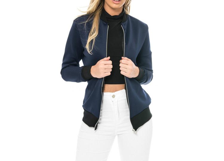 Hot Sprzedaż Jesień Tanie Ubrania Kobiet Małe Krótkie Kurtki Z Długim Rękawem Zipper Fly Outwear Kurtki Płaszcze Slim Cienkie Stylu topy Coat 5