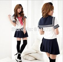 Cosplay Womens Dress Japanese Girls School Uniforms Sailor Suits Costume