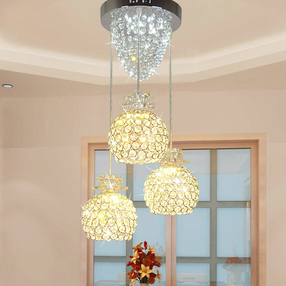 Modern Crystal LED Dining Room Pendant Lights Fashion Restaurant Pendant Lamp Luxury Corridor Crystal Pendant Lamp Fixtures a1 master bedroom living room lamp crystal pendant lights dining room lamp european style dual use fashion pendant lamps