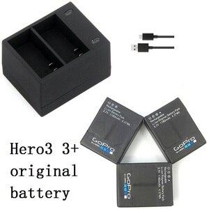 Image 1 - 新しい100%オリジナルバッテリーカクレクマノミusbデュアルポート充電器移動プロヒーロー3 3 + ahdbt 301 302バッテリー充電器アクションアクセサリー