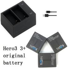 Nieuwe 100% Originele Batterij Clownfish USB Dual Poort Oplader voor Gopro hero 3 3 + AHDBT 301 302 acculader Action accessoires