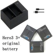Nowy 100% oryginalna bateria Clownfish USB podwójna ładowarka sieciowa dla Gopro hero 3 3 + AHDBT 301 302 ładowarka akcesoria akcji
