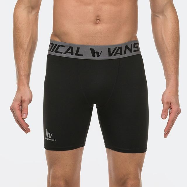 4c7bfdb0e Hombres capa base shorts de compresión medias de la ropa interior de los  boxeadores de ejercicio