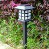 2pcs Lot Waterproof IP54 Outdoor LED Light Garden Security Lamp Solar Power Fence Light Lamps Replaceable