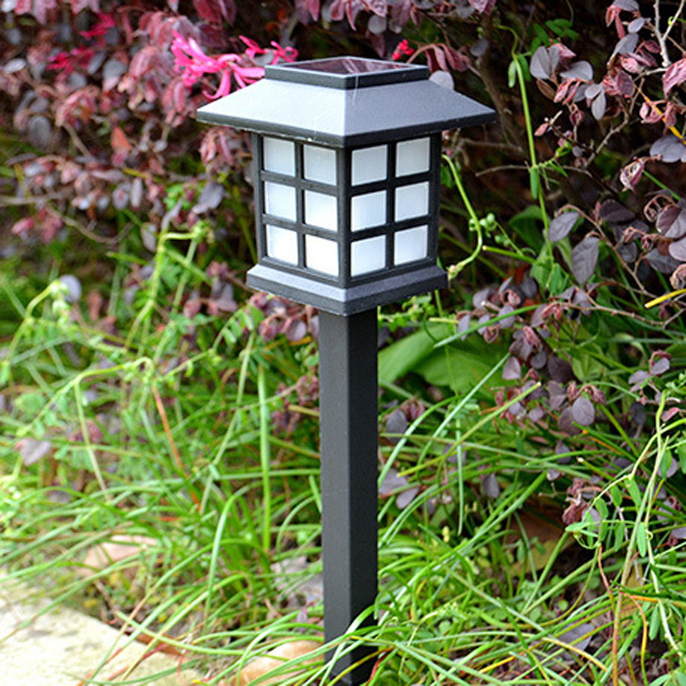 2pcs/lot Waterproof IP54 Outdoor LED Light Garden Security Lamp Solar Power Fence Night Light Lamps Replaceable Solar Battery